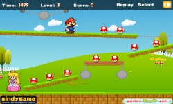 Jeux flash - Mario Dash to Princess