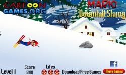 Flash games - Mario Downhill Skiing