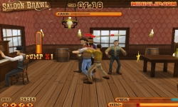 Juegos flash - Saloon Brawl