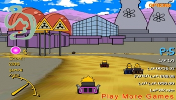 Jeux flash - Simpsons 3d Kart