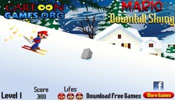 Mario Downhill Skiing