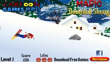 Jeux flash - Mario Downhill Skiing