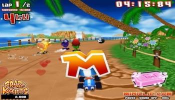 Jeux flash - Crazy Karts