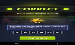 Jeux sur mobiles - 4 images 1 mot