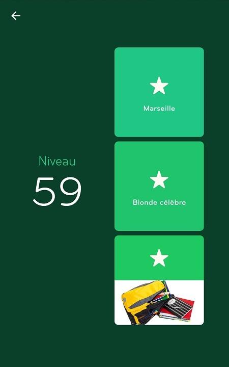 Solutions Niveau 59 - 94%