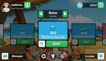 Jeux sur mobiles - Belote et Coinche Multijoueur Gratuit