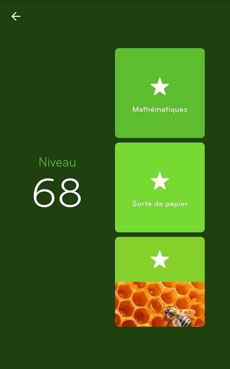 Solutions Niveau 68 - 94%