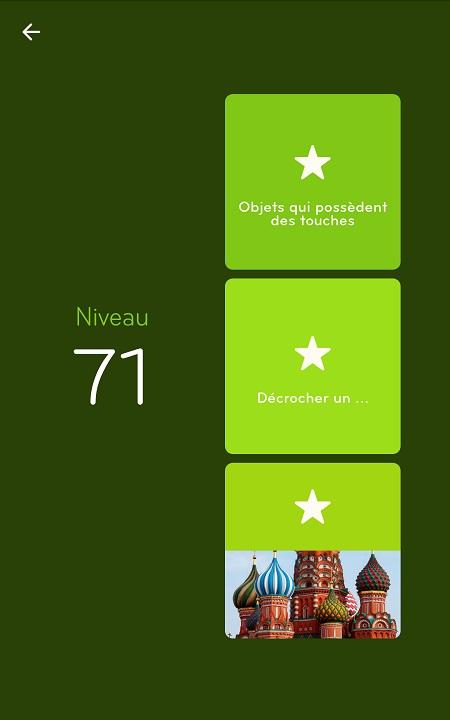 Solutions Niveau 71 - 94%
