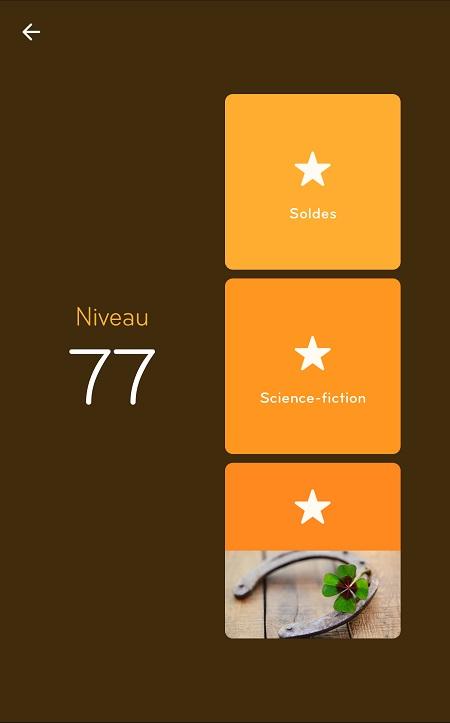 Solutions Niveau 77 - 94%