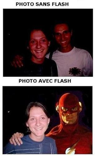 Photo avec et sans Flash