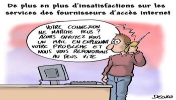 L'insatisfaction auprès des opérateurs Internet