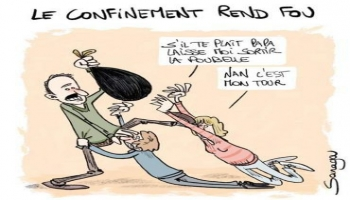 Images - Le confinement rend fou