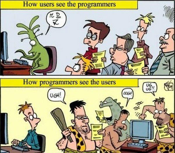 Programmers vs users