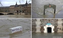 Photos de la crue de la Seine à Paris en Janvier 2018
