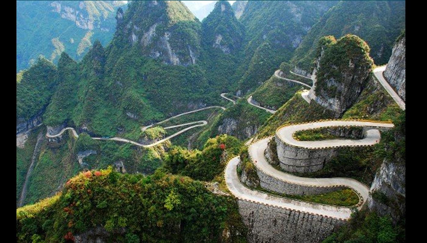 """Résultat de recherche d'images pour """"Route de montagne de Tianmen, Hunan, Chine"""""""