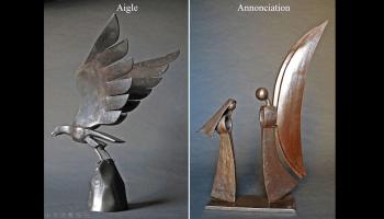 Sculptures de métal de Jean-Pierre Augier