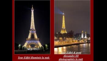 Féérie parisienne la nuit