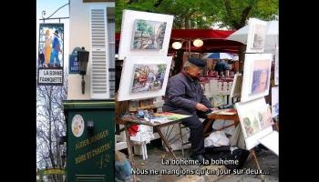 La bohème, Montmartre et Aznavour