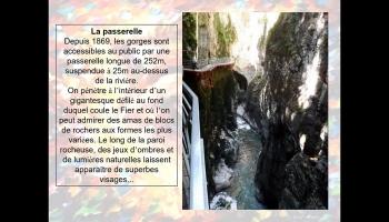Diaporamas PPS - Les Gorges du Fier, près d'Annecy