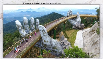 Golden Bridge, un pont à couper le souffle au Vietnam