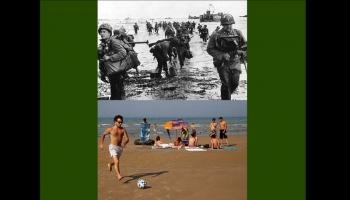 Photos du débarquement et Aujourd'hui - 70 ans d'écart