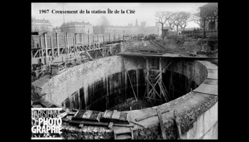 Diaporamas PPS - Construction du métro à Paris